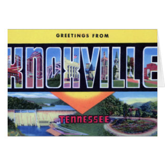 Knoxville Tennessee Large Letter Greetings Card