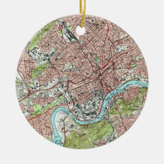 Knoxville Tennessee Map (1978) Ceramic Ornament