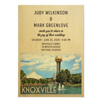 Knoxville Wedding Invitation Tennessee