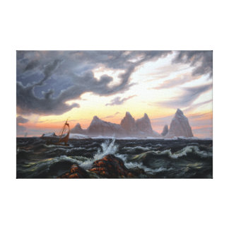 Knud Baade The Island of Træna in Nordland Canvas Print
