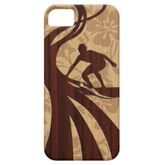 Koa Wood Surfer Surfboard iPhone 5 Cases