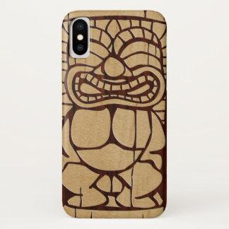 Koa Wood Tiki Ailani Faux Wood Surfboard iPhone X Case