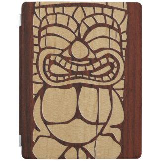 Koa Wood Tiki Ailani Surfboard FauxWood iPad Cover
