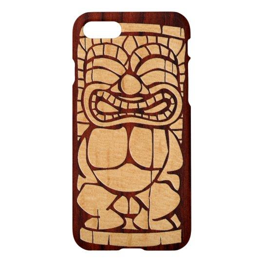 Koa Wood Tiki Ailani Surfboard iPhone 7 Case