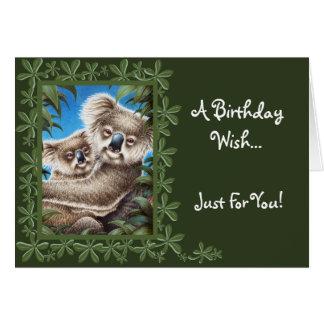 Koala and Baby Birthday Card