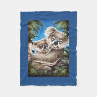 Koala and Baby Fleece Blanket