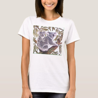 Koala and baby in Eucalyptus Tree T-Shirt