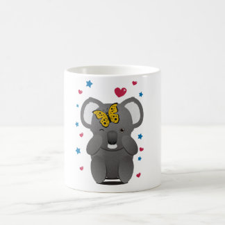 Koala And Butterfly Coffee Mug