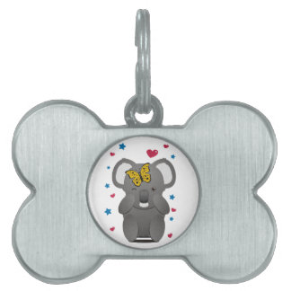 Koala And Butterfly Pet ID Tag