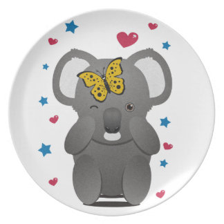 Koala And Butterfly Plate