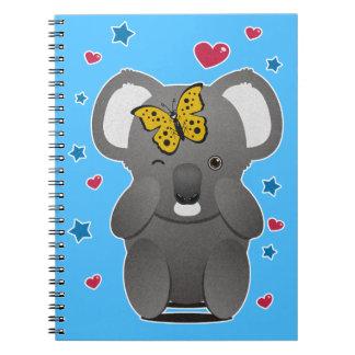 Koala And Butterfly Spiral Notebook