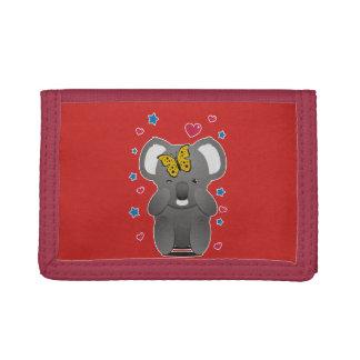 Koala And Butterfly Trifold Wallets