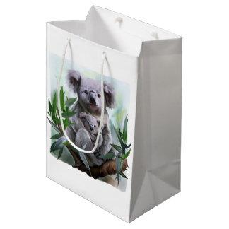Koala and her baby medium gift bag