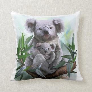 Koala and her baby throw pillow