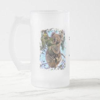 Koala Australia 16 Oz Frosted Glass Beer Mug