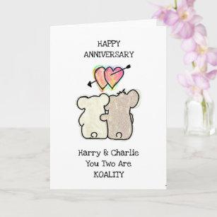 Koala Bear Anniversary Card
