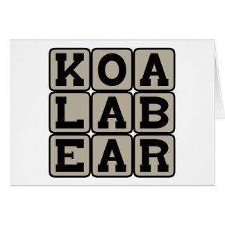 Koala Bear, Australian Marsupial Card