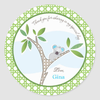Koala Bear | Baby Shower Favor Sticker
