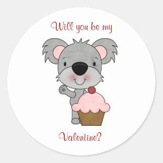 Koala Bear: Be My Valentine Stickers