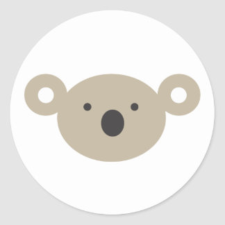 Koala Bear Classic Round Sticker