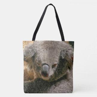 Koala Bear Hanging In The Tree Tote Bag
