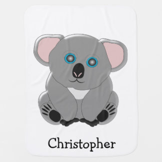 Koala Bear Just Add Name Baby Blanket