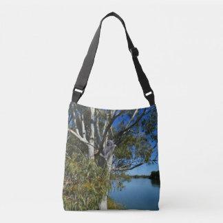 Koala Bear Sleeping In Gum Tree, Crossbody Bag