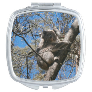 Koala_Bear_Tree_Climb_Ladies_Beauty_Compact_Mirror Travel Mirrors