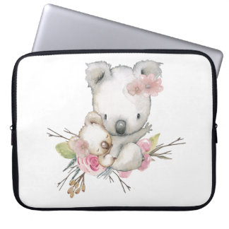 Koala Bears and Pink Roses Laptop Sleeve