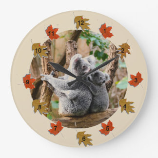 Koala Bears Large Clock