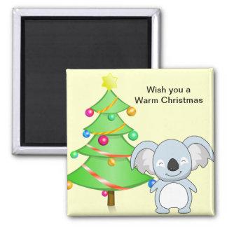 Koala Christmas Magnet