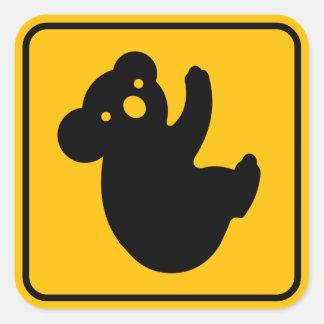 Koala Crossing Cute Road Sign Sticker