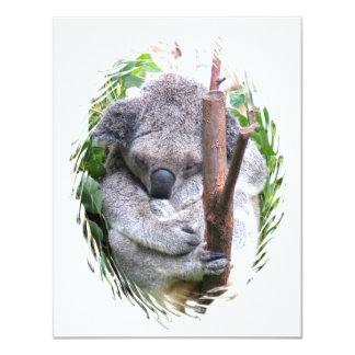 Koala Cuddle Invitation