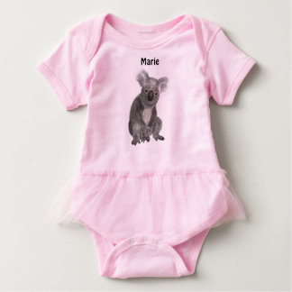 Koala Cuddles Personalized Baby Bodysuit