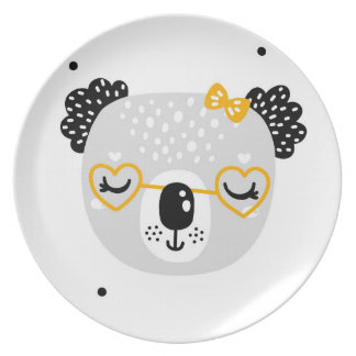 Koala Design Melamine Plate for Kids