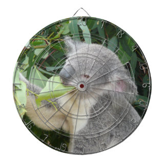 Koala Eating Gum Leaf Dartboard