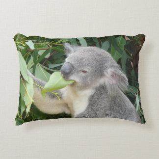 Koala Eating Gum Leaf Decorative Pillow