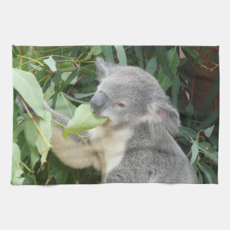 Koala Eating Gum Leaf Kitchen Towel
