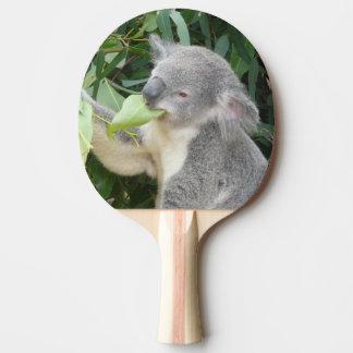 Koala Eating Gum Leaf Ping Pong Paddle
