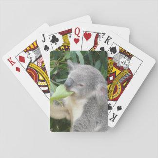 Koala Eating Gum Leaf Playing Cards