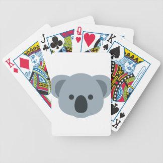 Koala emoji bicycle playing cards