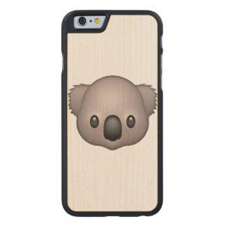 Koala - Emoji Carved Maple iPhone 6 Case