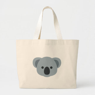Koala emoji large tote bag