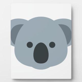 Koala emoji plaque