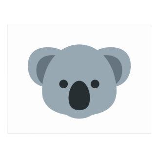 Koala emoji postcard