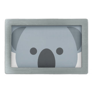 Koala emoji rectangular belt buckles