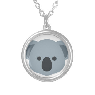 Koala emoji silver plated necklace