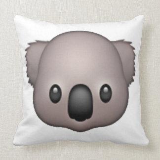 Koala - Emoji Throw Pillow
