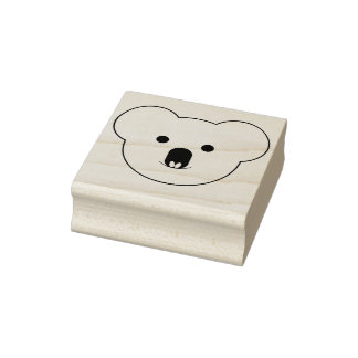 Koala Face Rubber Stamp