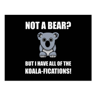 Koala Fications Postcard